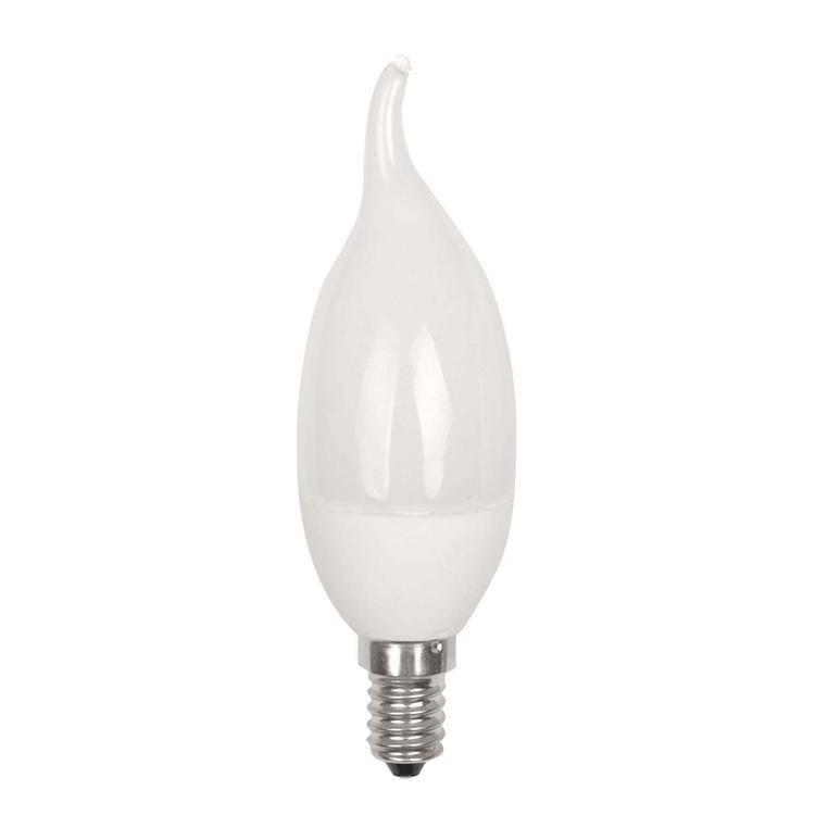 2.5 Watt LED Light Bulb  SES E14 Small Edison Screw Bent Tip Candle  White