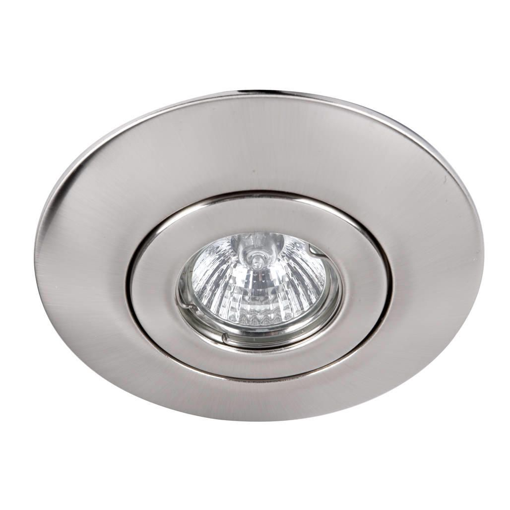 Brushed Chrome Recessed Downlight Conversion Kit From