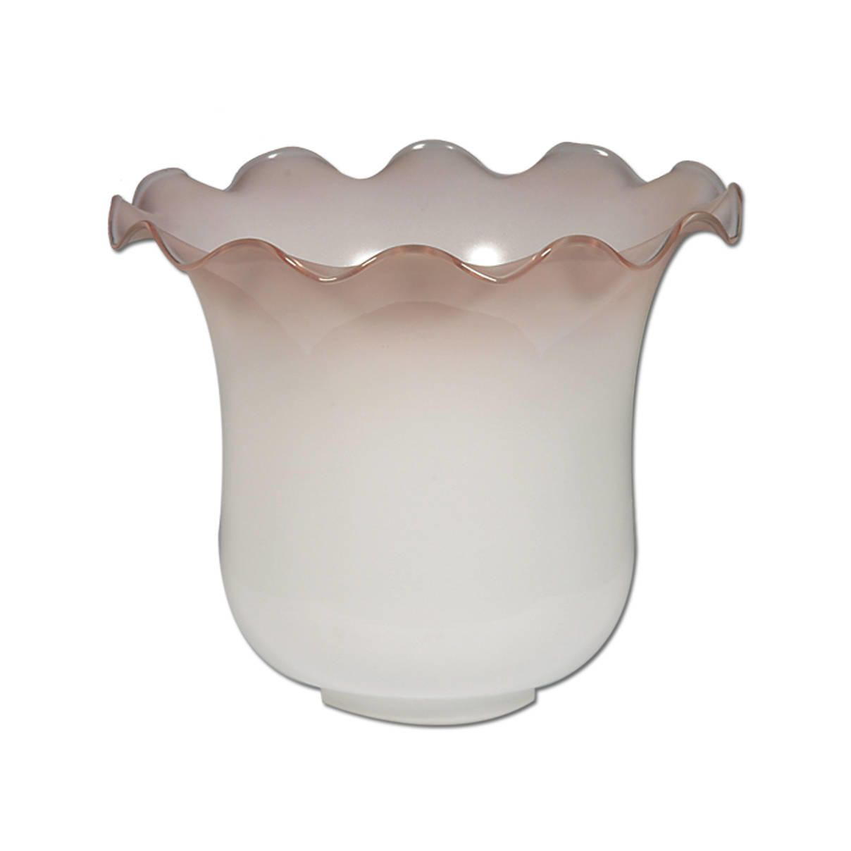 Opal Glass Shade With Graduated Coloured Pink Lip From