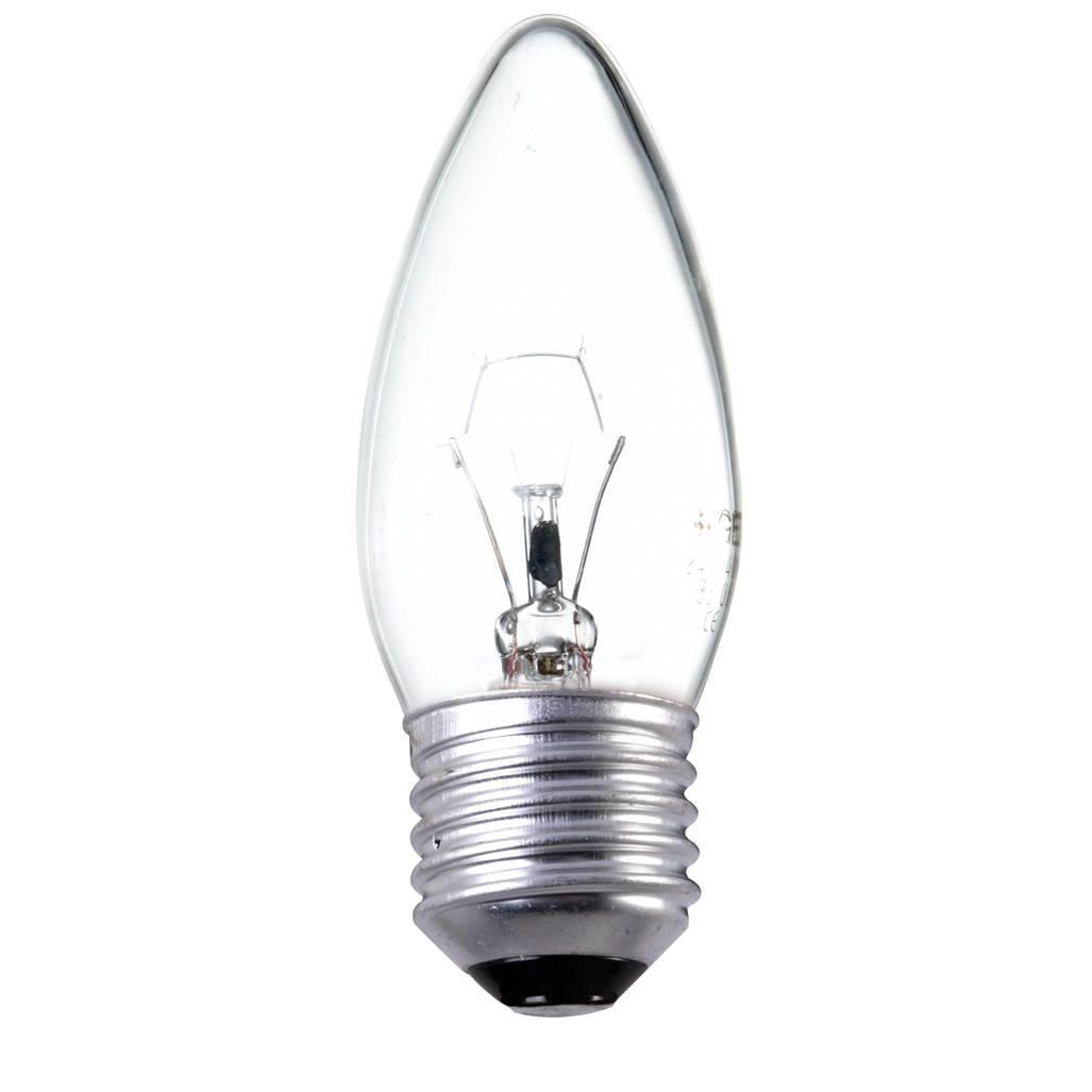 40 Watt ES E27 Edison Screw Candle Light Bulb ClearThis 40 watt candle light bulb is clear for a bright source of illumination. It features an E27 bas