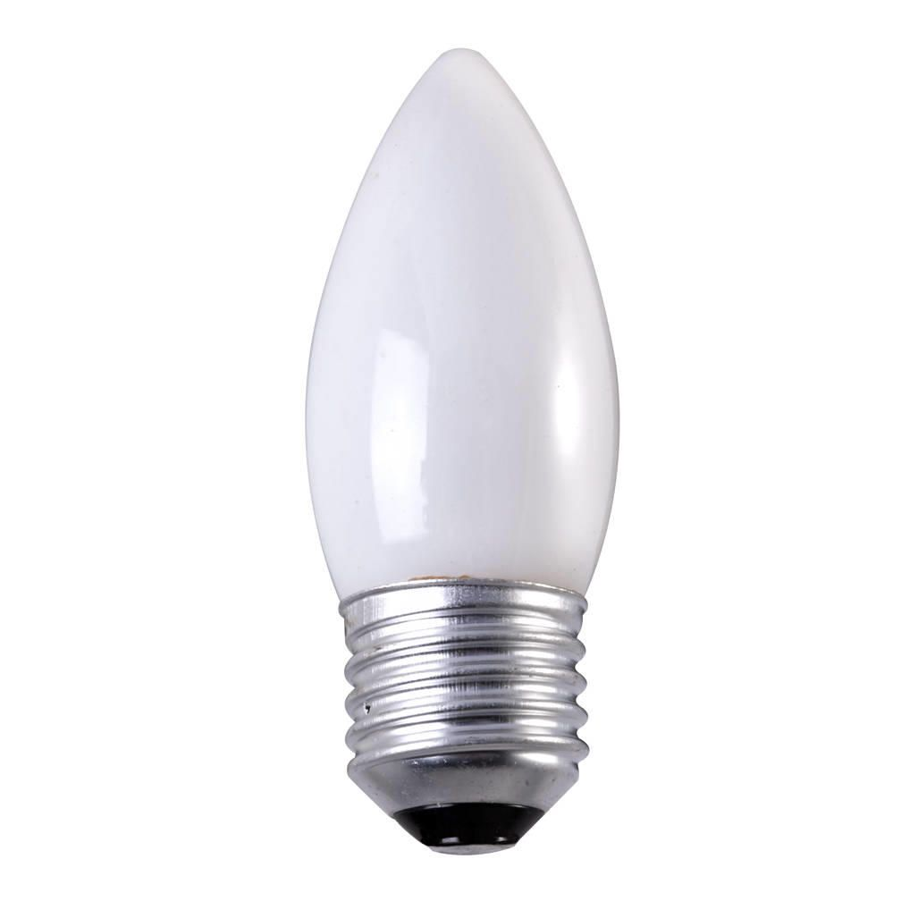 40 Watt ES E27 Edison Screw Candle Light Bulb OpalThis candle-shaped 40 watt light bulb is clear for a softly diffused source of illumination. It feat