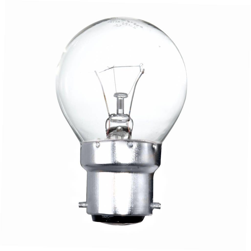 60 watt bc b22 bayonet cap golf ball light bulb clear. Black Bedroom Furniture Sets. Home Design Ideas