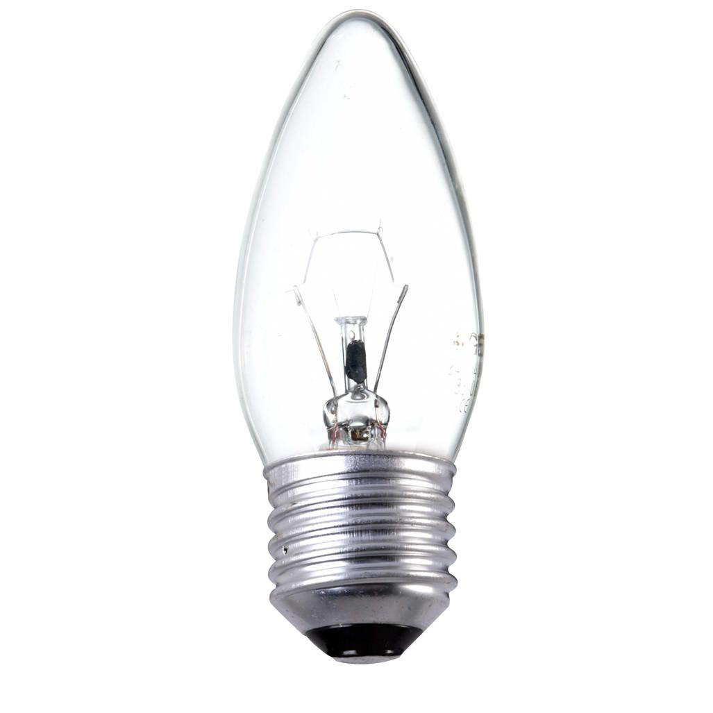 60 Watt ES E27 Edison Screw Candle Light Bulb ClearThis clear candle light bulb provides 60 watts of bright and even light. It features an E27 base fo