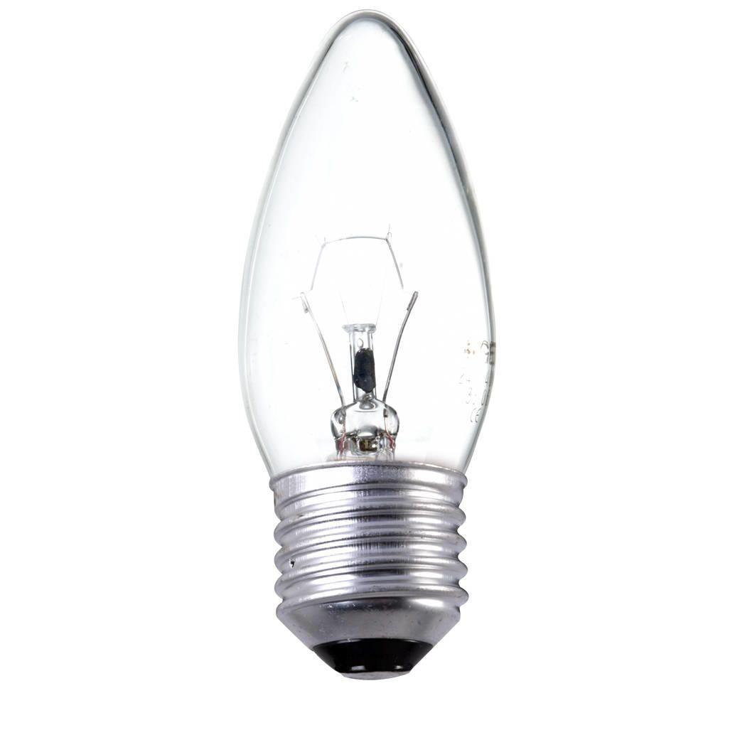 Light Bulb Screw: 60 watt es e27 edison screw candle light bulb - clear,Lighting