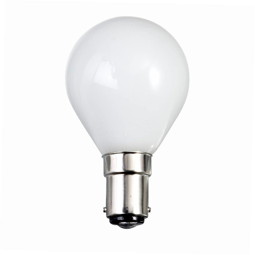 60 Watt Sbc B15 Small Bayonet Cap Golf Ball Light Bulb Opal From Litecraft