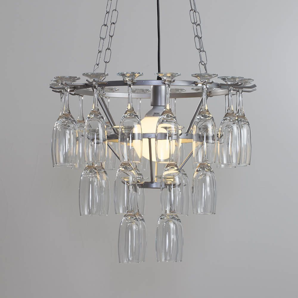 3 tier champagne flute glass chandelier silver from litecraft hanging glass chandelier modern ceiling pendant aloadofball Image collections