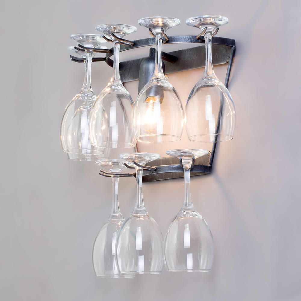 Wine Glass Wall Lights : Wine Glass Wall Light - Black