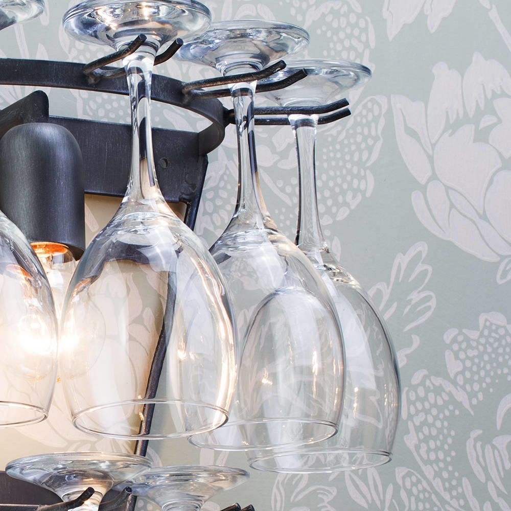 Wine Glass Wall Light - Black