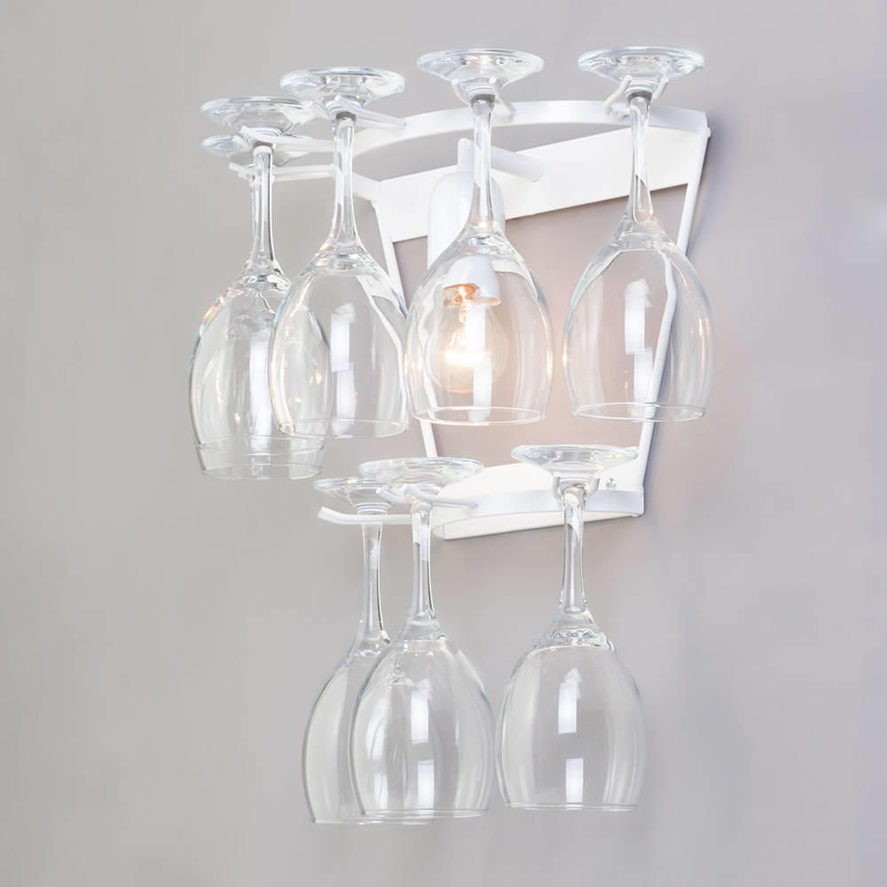 Decorative Glass Wall Lights : Wine Glass Decorative Wall Light - White from Litecraft