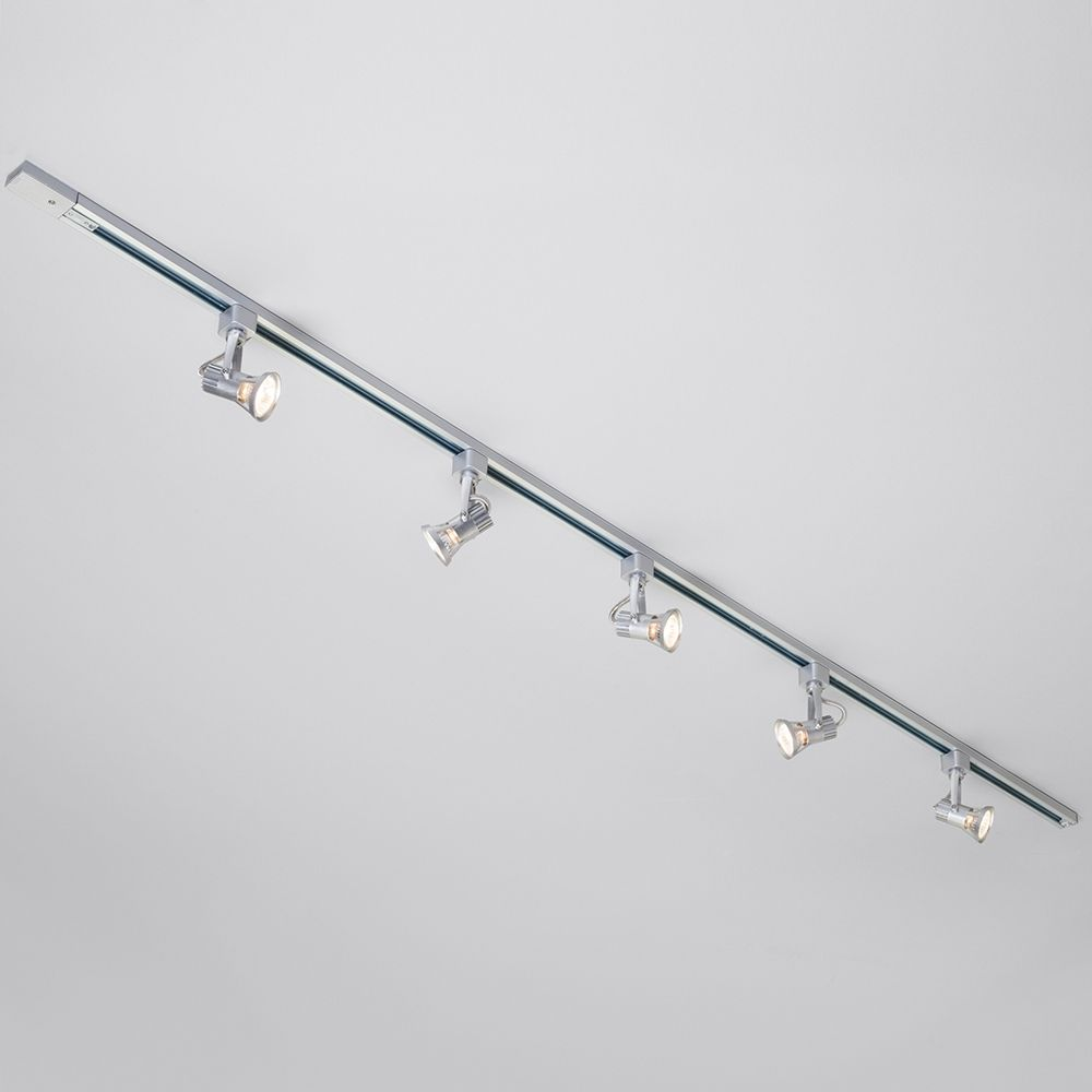 1m2m track light kit silver 1 6 three style spots with halogen 1m 2m track light kit silver amp 1 aloadofball Gallery
