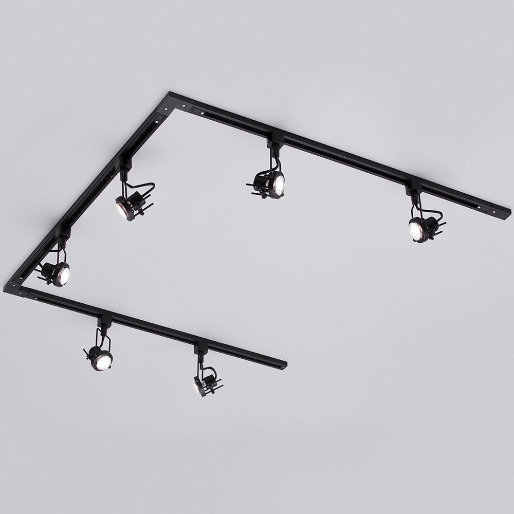 1 3 M Track Light Kit Black Amp 1 6 Three Style Spotheads