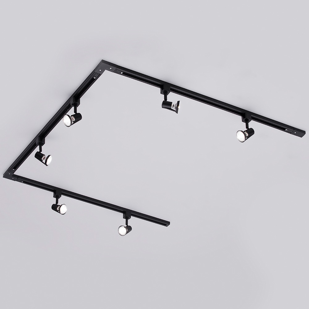 Track Lighting Kit Uk: 3m U Shaped Harlem LED GU10 Track Light Kit