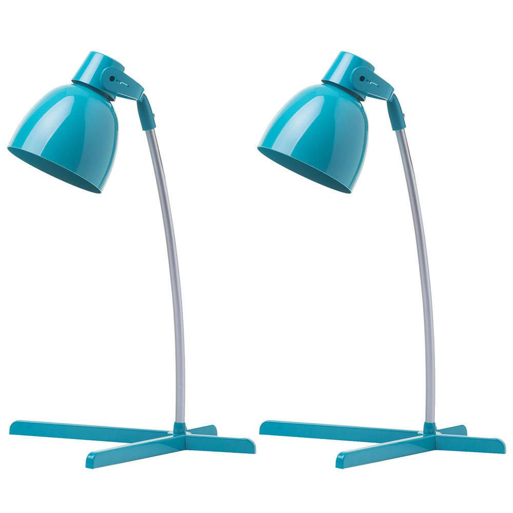 2 Pack of Timmy 1 Light Task Lamp  Teal