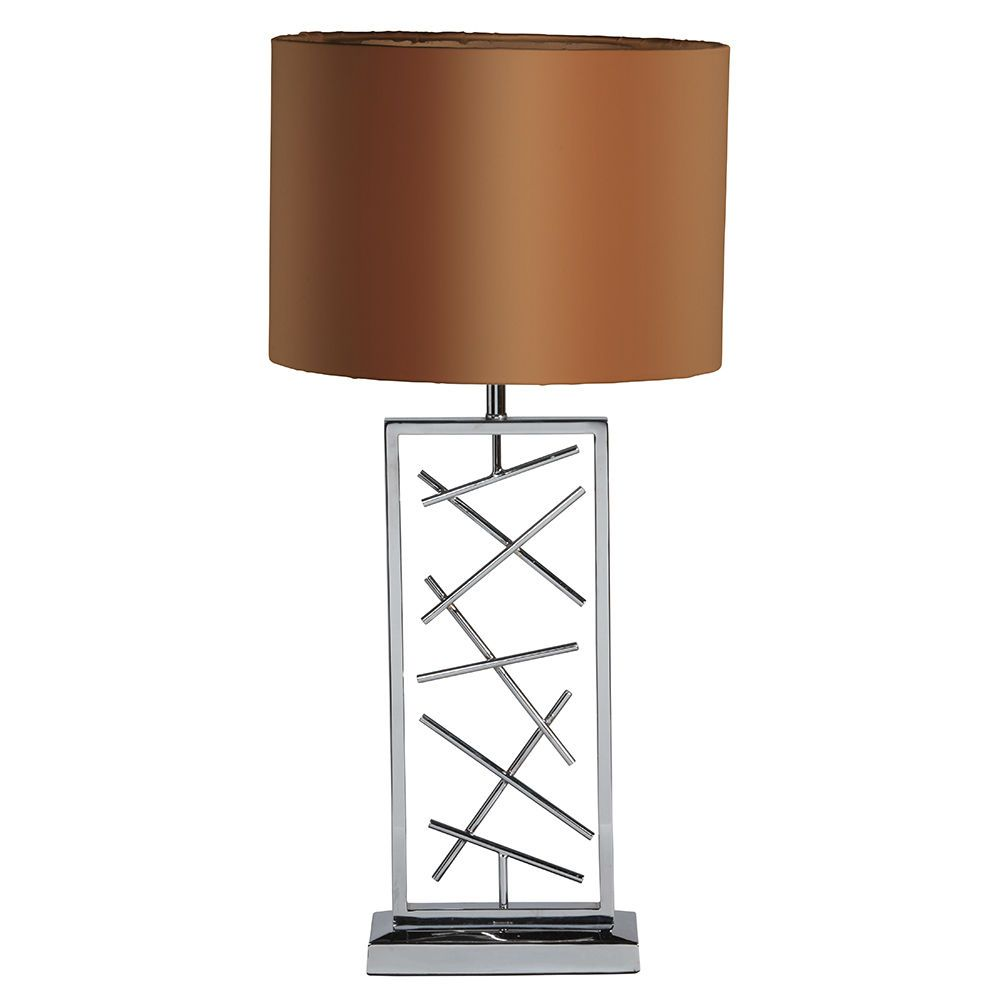 Gaius 1 Light Table Lamp with Bronze Shade