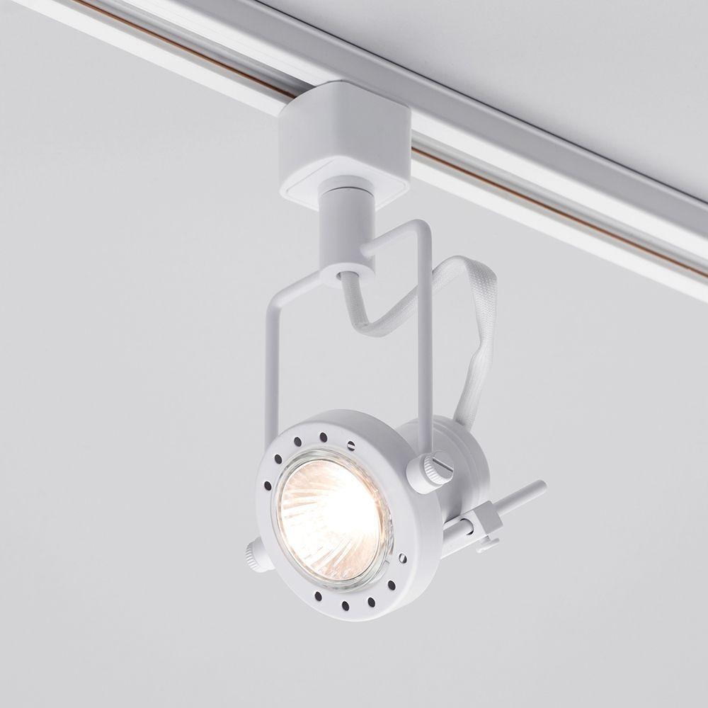 1 metre track light with 1 gu10 halogen bulbs white white track light with halogen bulbs mozeypictures Choice Image