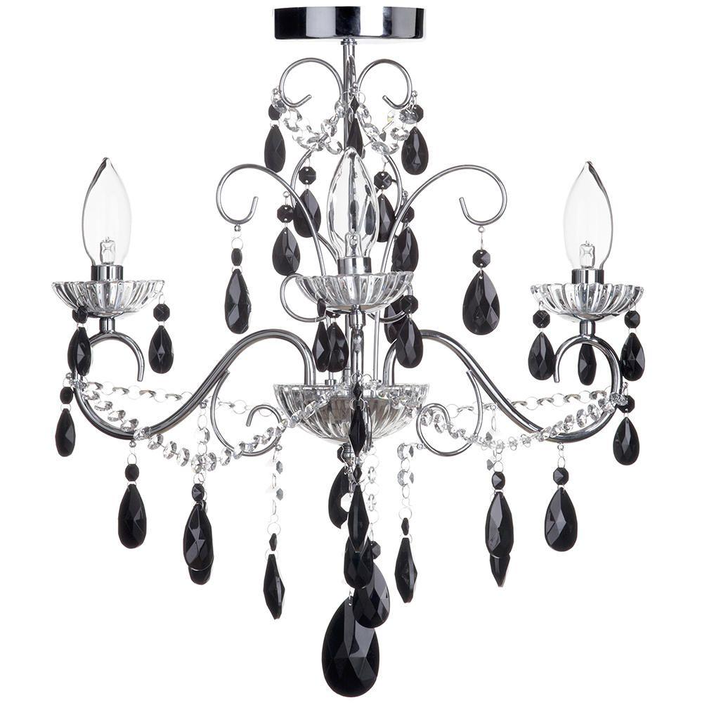 Vara 3 light chrome bathroom chandelier w black crystals vara 3 light bathroom chandelier with black crystals chrome fastfree delivery aloadofball Choice Image