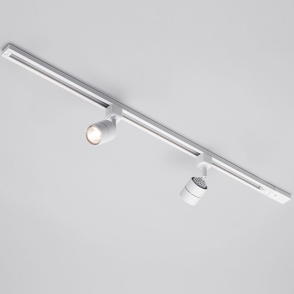 1 metre track lighting with 2 soho gu10 fixture halogen bulbs modern ceiling track light mozeypictures Choice Image