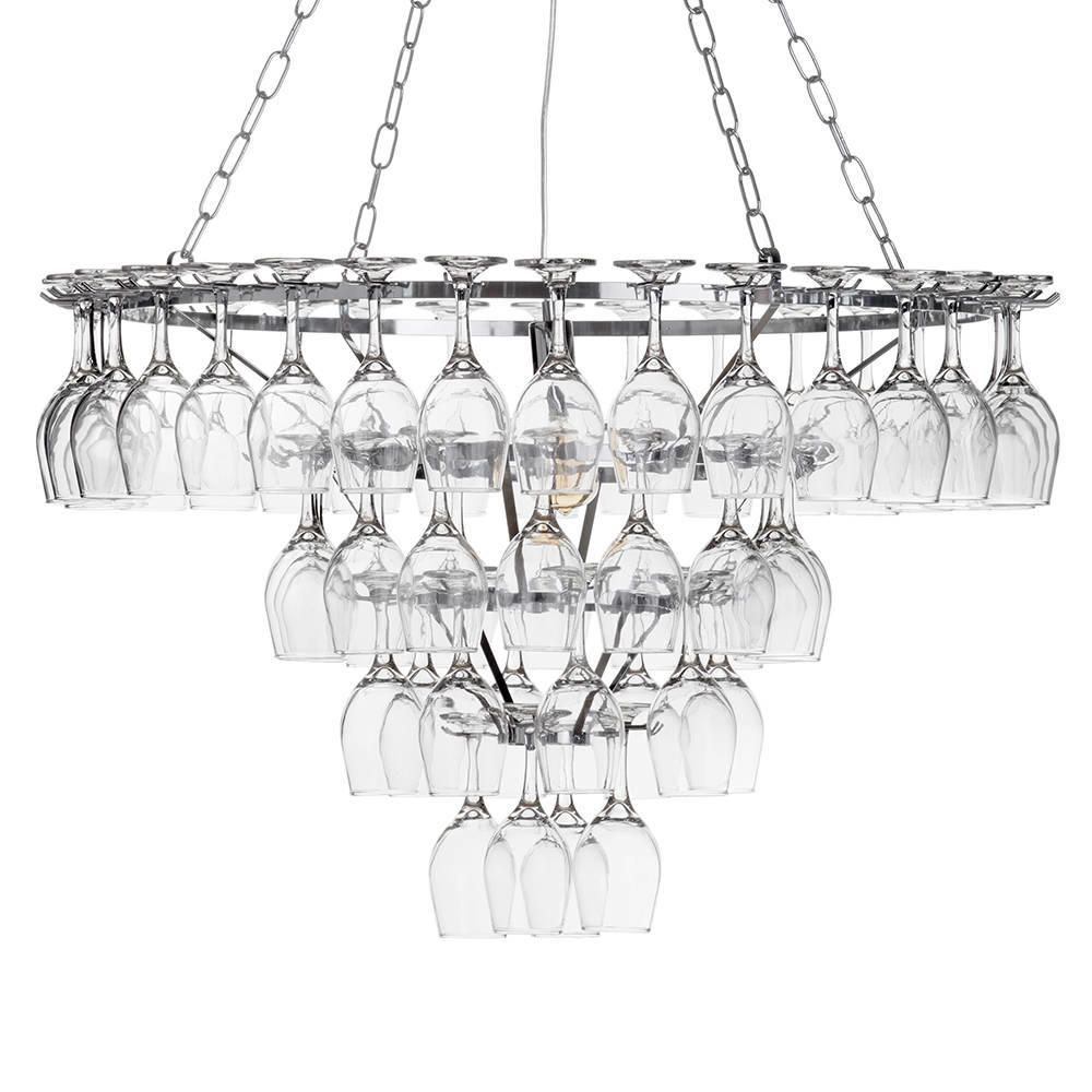 4 tier 60 wine glass chandelier chrome fastfree delivery aloadofball Image collections