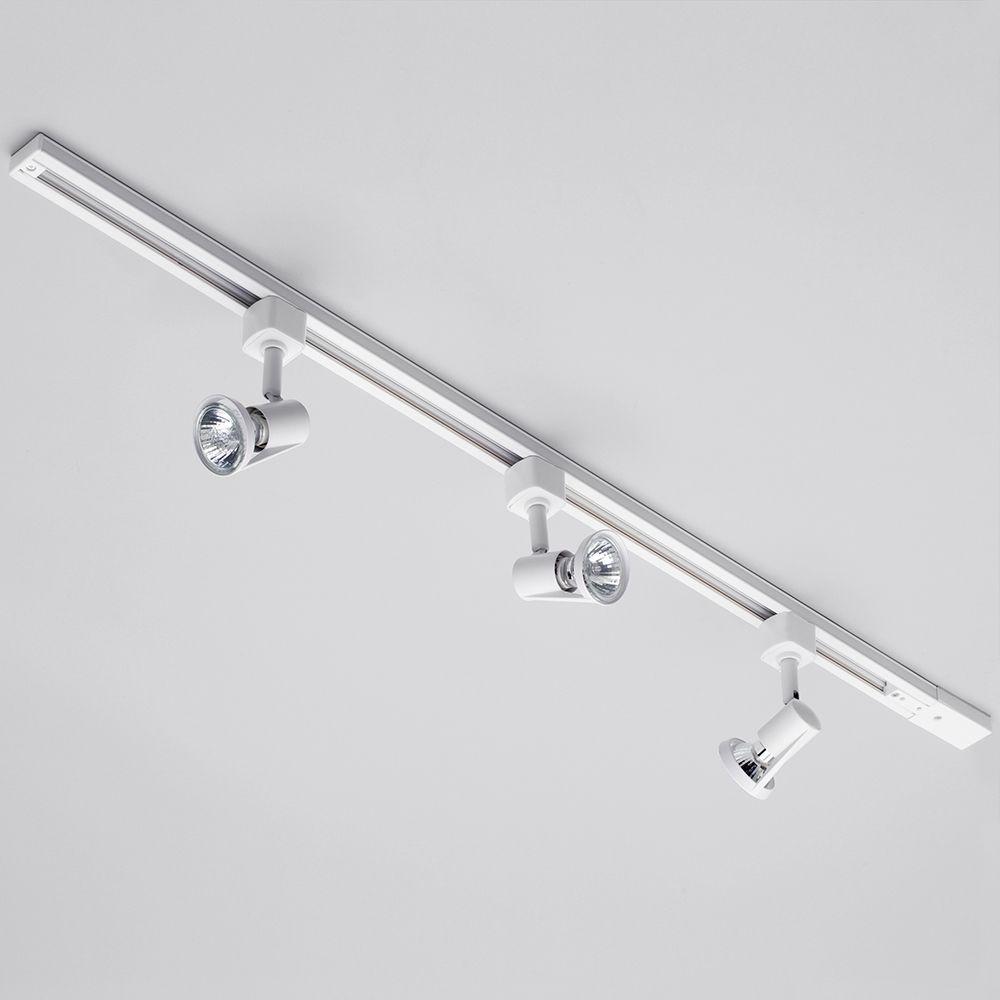 track lighting spotlights. White Adjustable Track Lighting System With Spotlights R