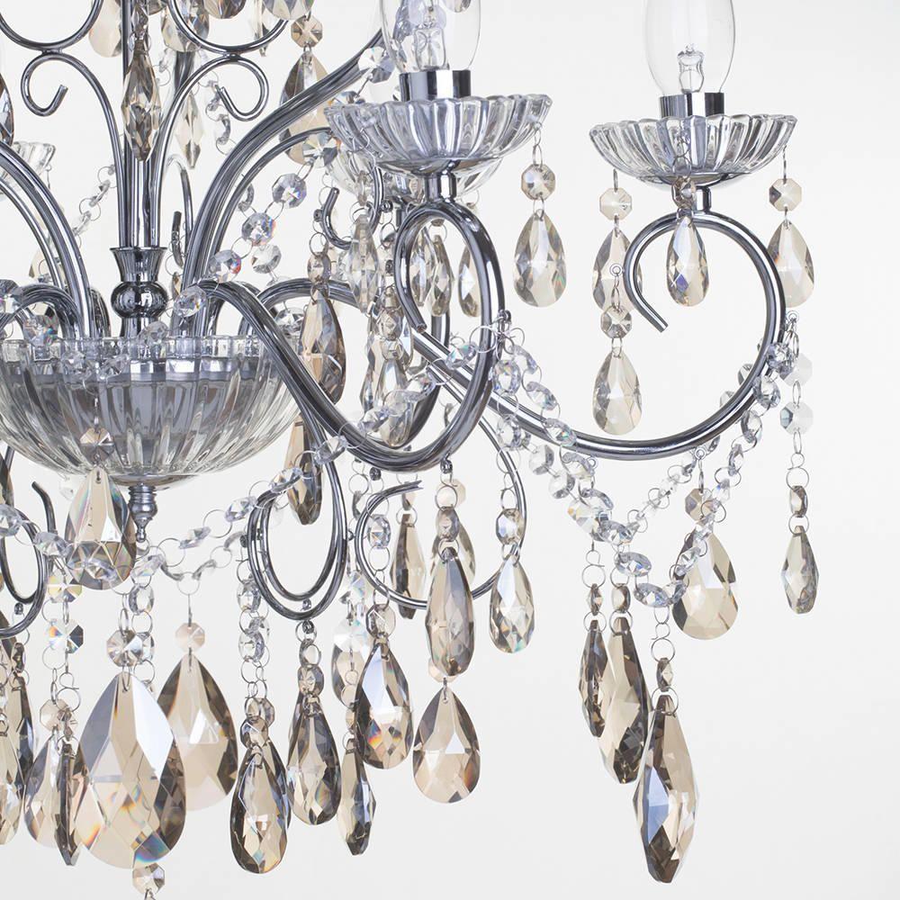 Bathroom Chandeliers Ip44 vara 9 light chrome bathroom chandelier w/ champagne crystals