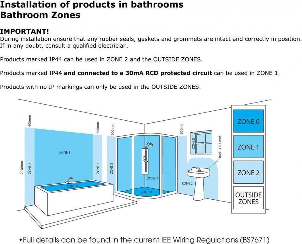 Edvin 3 Light Bathroom Semi Flush Ceiling Light