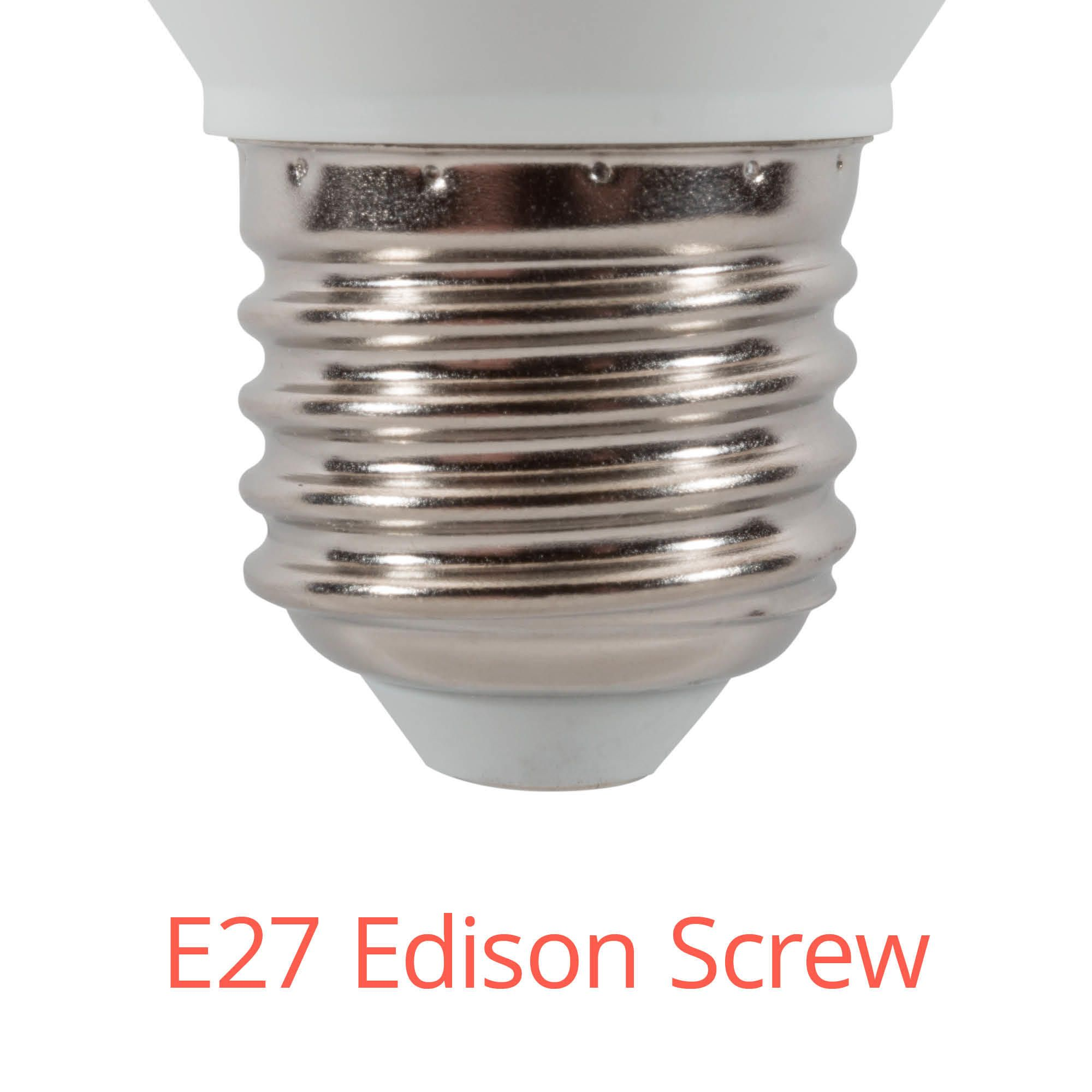 2x 6 Watt Led E27 Edison Screw Candle Bulb Cool White