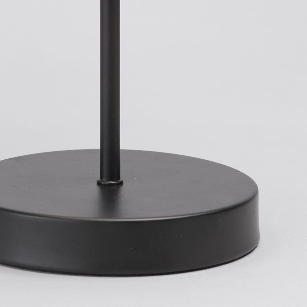 Round Base Modern Table Lamp Black Litecraft
