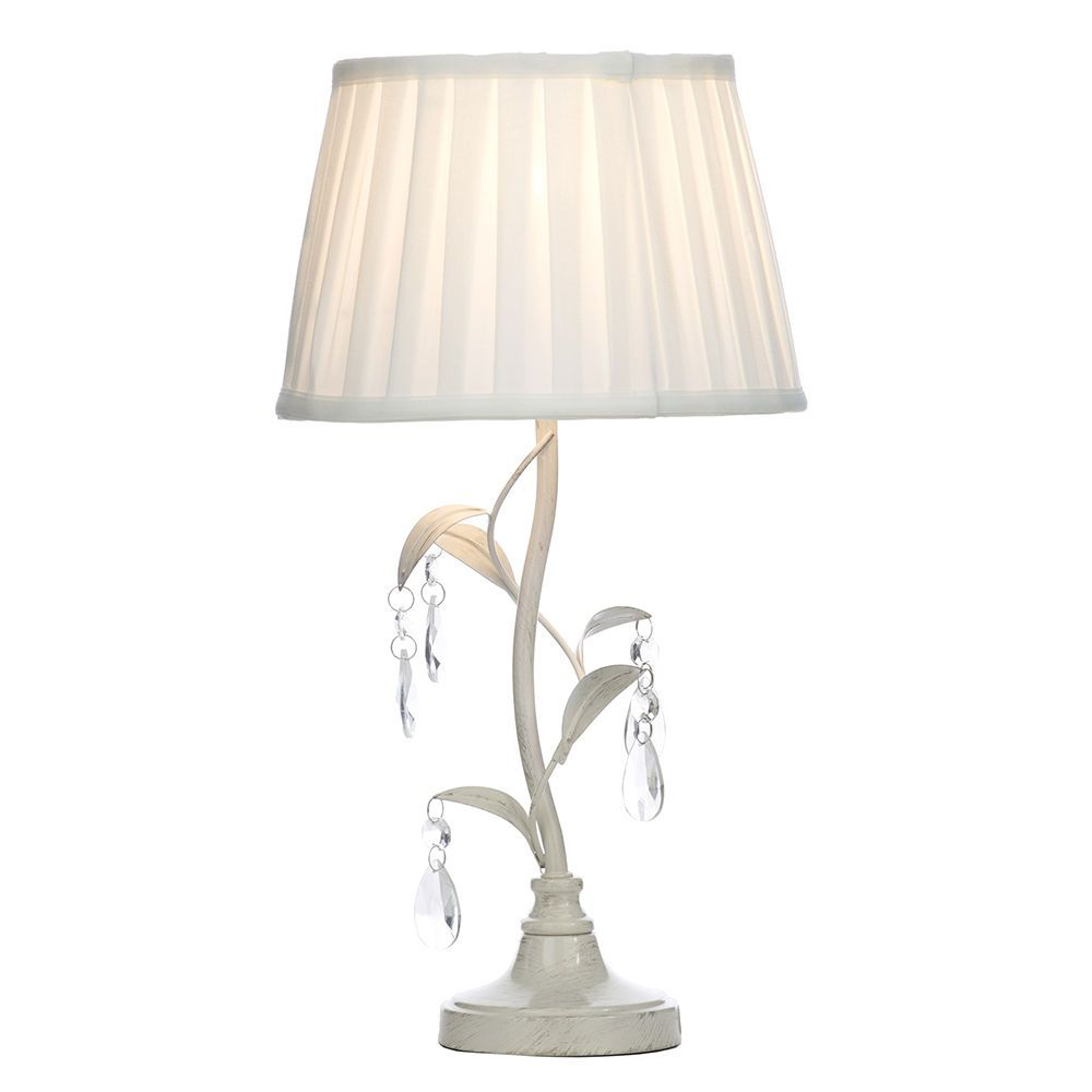 1 Light Distressed Effect Leaf And Droplet Table Lamp With