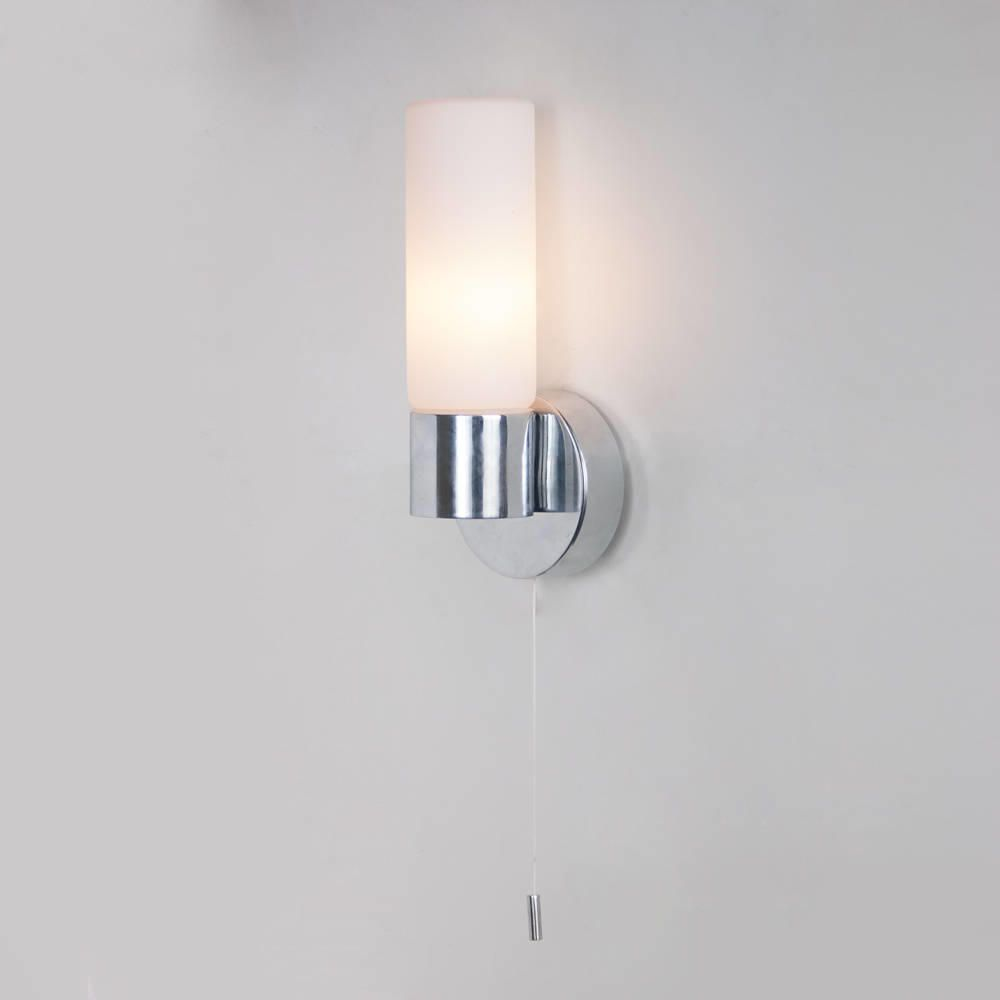 Chrome Bathroom Wall Light
