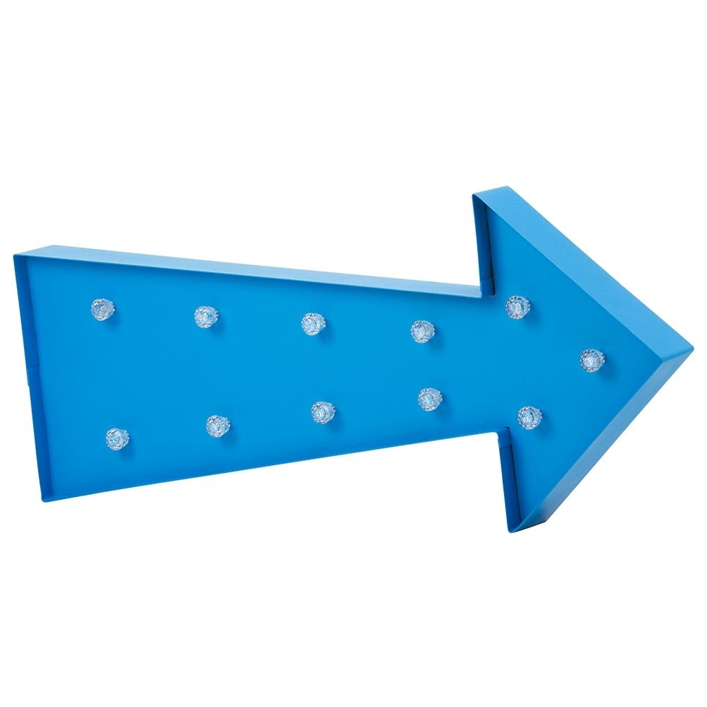 All wall lights uk for your bedroom and living room store litecraft novelty arrow shaped table or wall light blue aloadofball Gallery