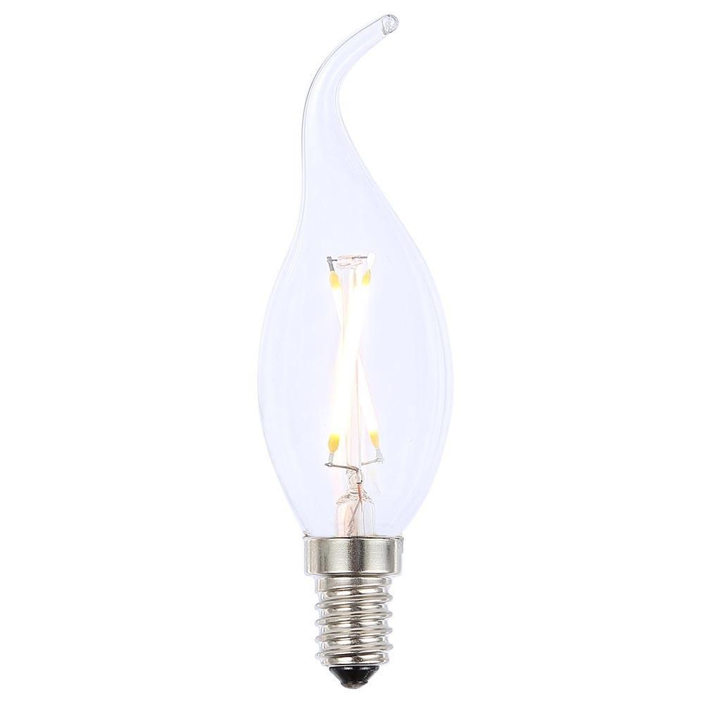 vintage filament 2 watt led e14 small edison screw light bulb clear from litecraft. Black Bedroom Furniture Sets. Home Design Ideas