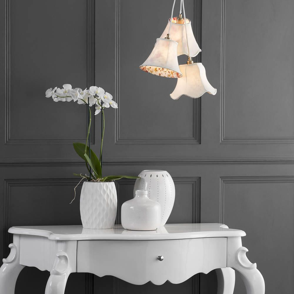 3 light floral shade cluster cream from litecraft floral cluster ceiling pendant light lighting girls elegant ladies bedroom aloadofball Image collections