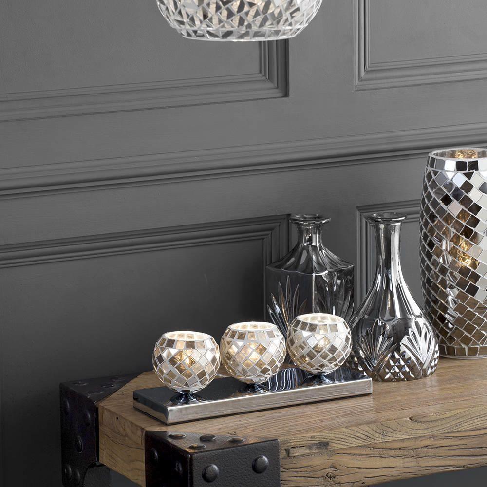 Pleasing 3 Light Mosaic Tea Cup Table Lamp Silver Interior Design Ideas Clesiryabchikinfo