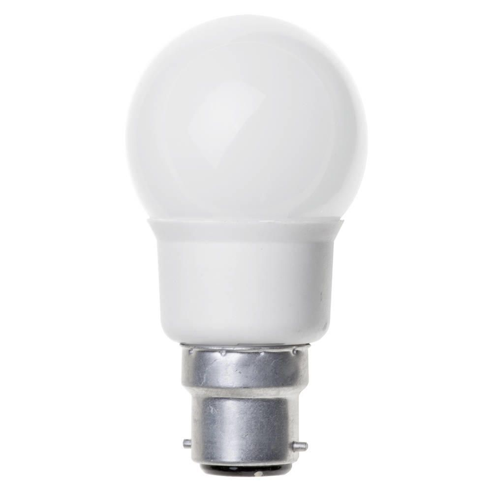 7 Watt B22 Bayonet Cap Energy Saving Cfl Mini Golf Ball Bulb White From Litecraft
