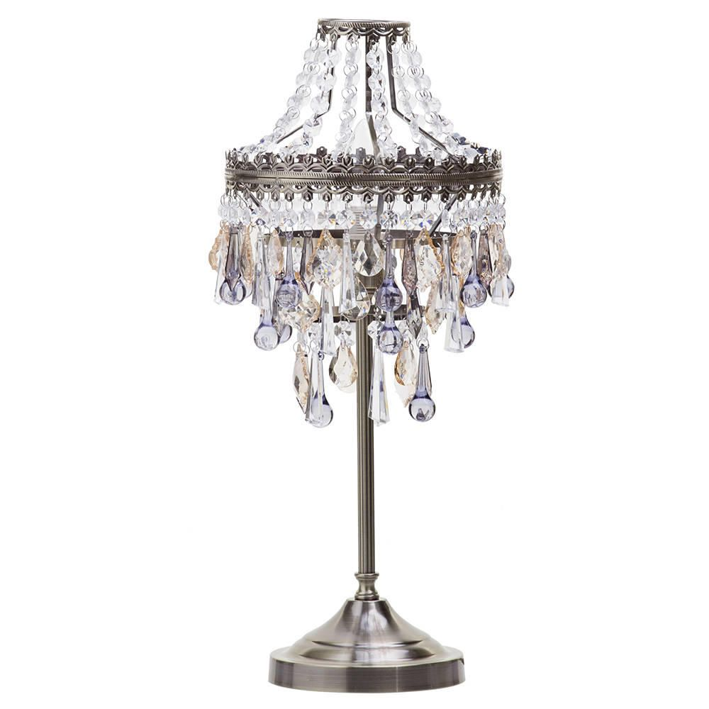 Chandelier 1 Light Table Lamp  Antique Brass