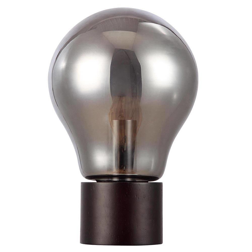 Oslo Light Bulb Style Table Lamp - Smoke Grey