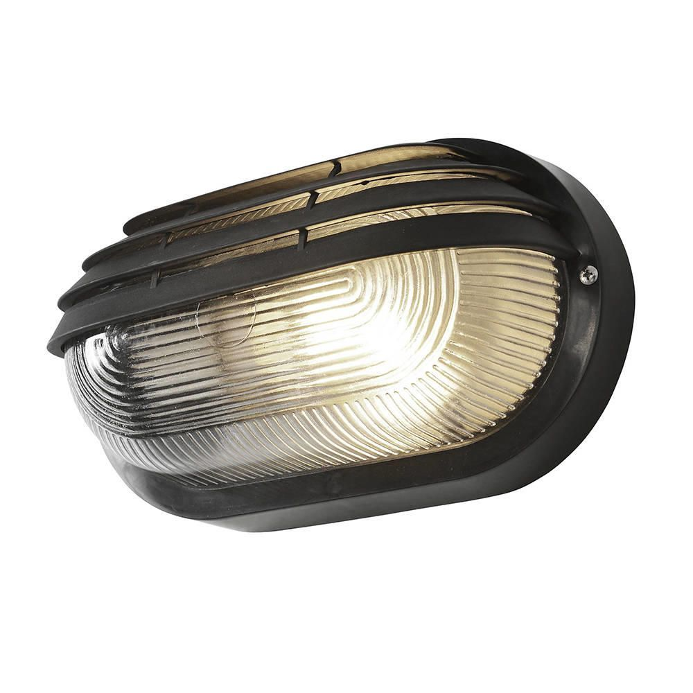 Litecraft Outdoor Wall Lights : Anders Oval Outdoor Bulkhead Eyelid Wall Light - Black from Litecraft
