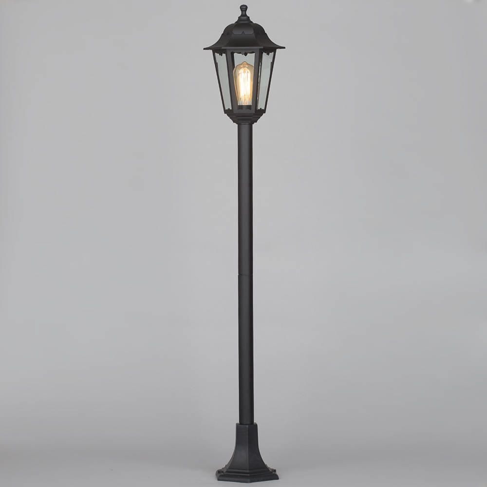 Neri outdoor polycarbonate lamp post lantern black from for Tall landscape lights