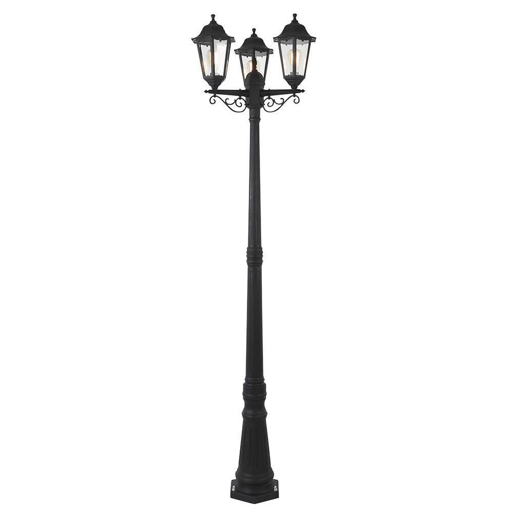 Outdoor light neri polycarbonate triple head tall lamp post lantern fastfree delivery aloadofball Gallery
