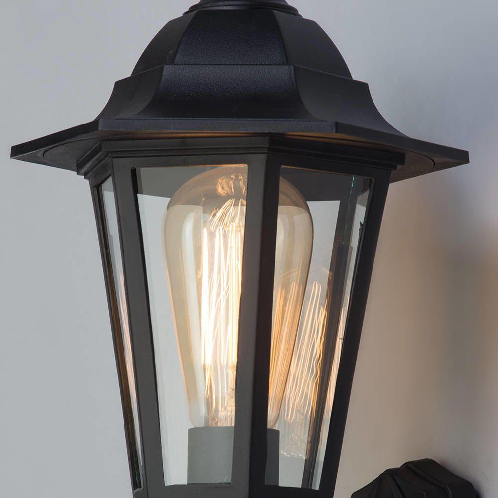 Corrosion Resistant Coastal Lighting Black Wall Lantern