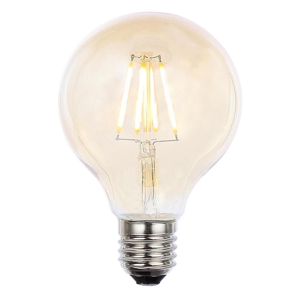 vintage filament 4 watt globe e27 edison screw led light bulb gold tint from litecraft. Black Bedroom Furniture Sets. Home Design Ideas