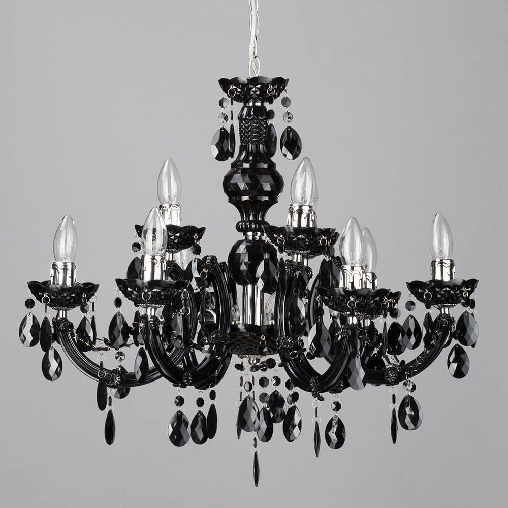 Marie therese 9 light dual mount chandelier black from litecraft large statement ceiling chandelier black gothic aloadofball Images