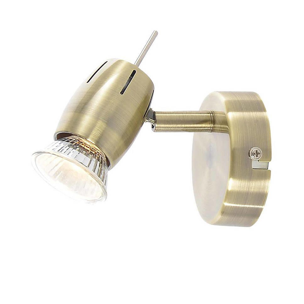 Renley 1 Light Ceiling or Wall Spotlight  Antique Brass