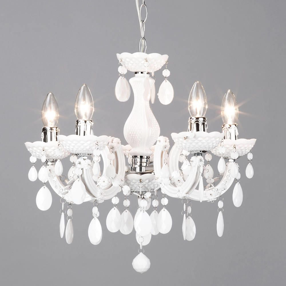 Marie Therese 5 Light Dual Mount Chandelier White From