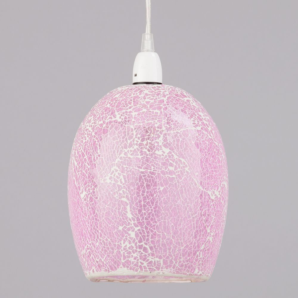 Easy Ceiling Lamp Shade: Glass Easy Fit Shade Crackle Effect Modern Ceiling Light