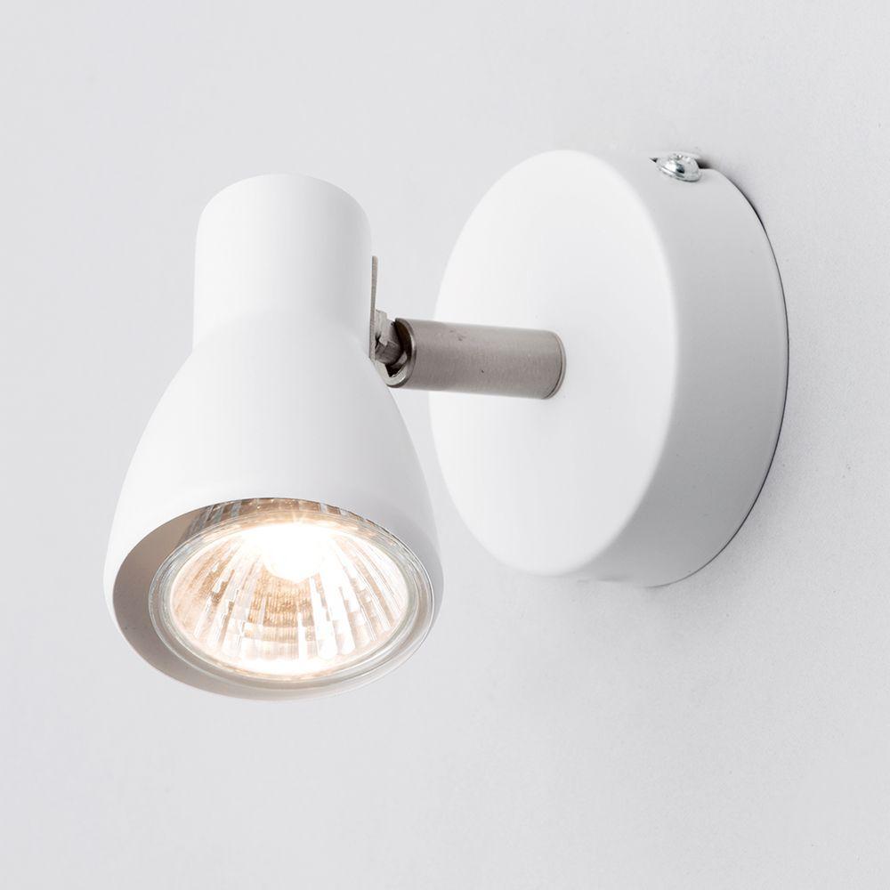 Kollig 1 light spotlight wall light white from litecraft kollig 1 light spotlight aloadofball Image collections