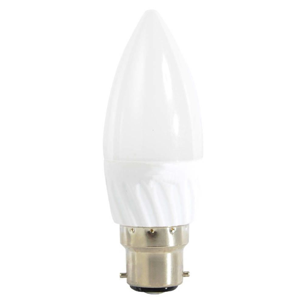 4 Watt LED B22 Bayonet Cap Candle Light Bulb  Warm White