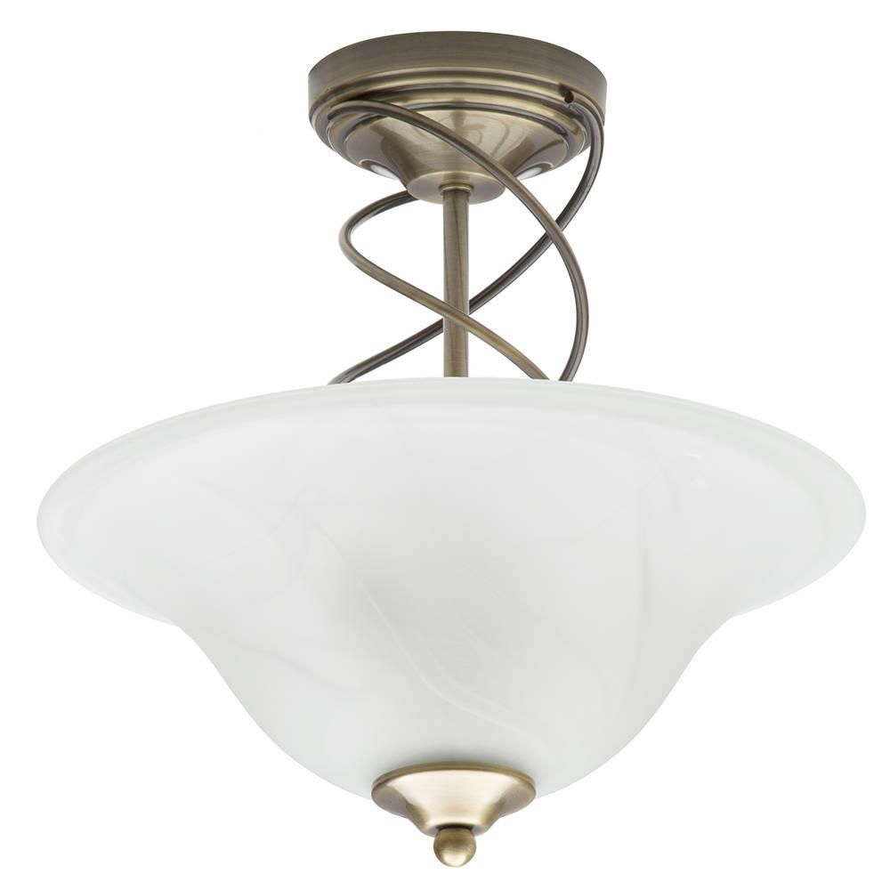 semi flush ceiling light antique brass delivery