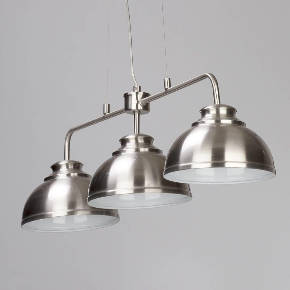 Brooklyn 3 Light Industrial Ceiling Pendant Bar - Satin ...