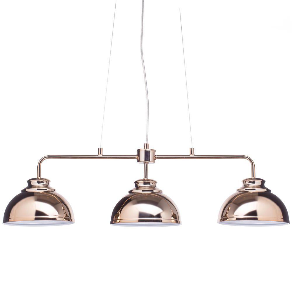 Brooklyn 3 Light Industrial Ceiling Pendant Bar Rose